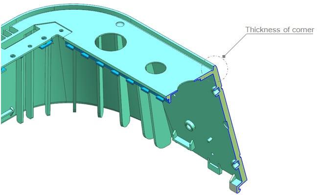 corner thickness